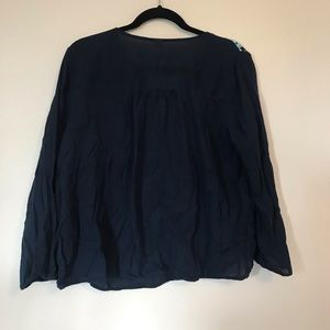 Old Navy Tops - Navy Old Navy Embroidered Blouse